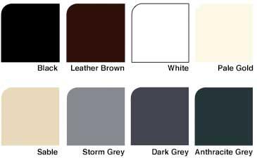 uPVC Roofline Colour options