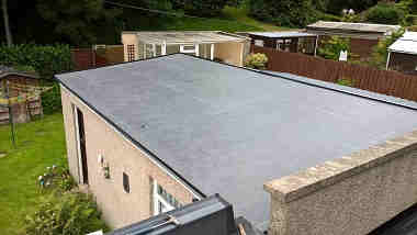 Asbestos roof covered over with Firestone RubberCover EPDM