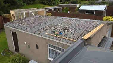 Asbestos Garage Roof before