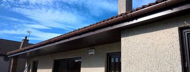 new uPVC Rosewood fascias Corskie Place Macduff
